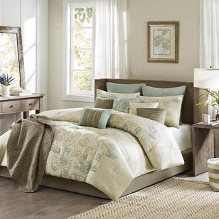 Madison Park Eden 12-Piece Jacquard Comforter Set