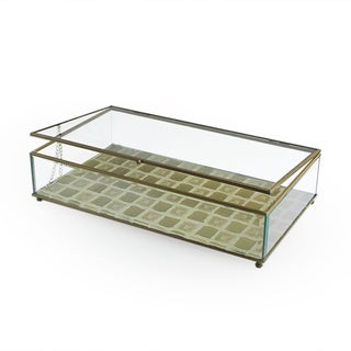 Tile Gold Glass Large Display Box