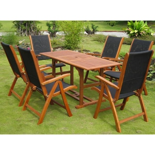 International Caravan Royal Tahiti 'Berga' Yellow Balau Hardwood Dining Set (Set of 7)