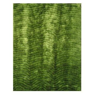 Modern Shag Green Polyester Area Rug (5' x 7'3)