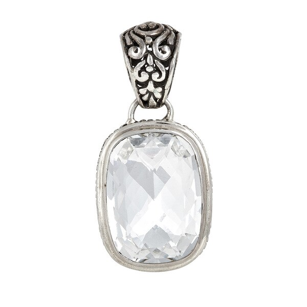 Sterling Silver Clear Crystal Pendant