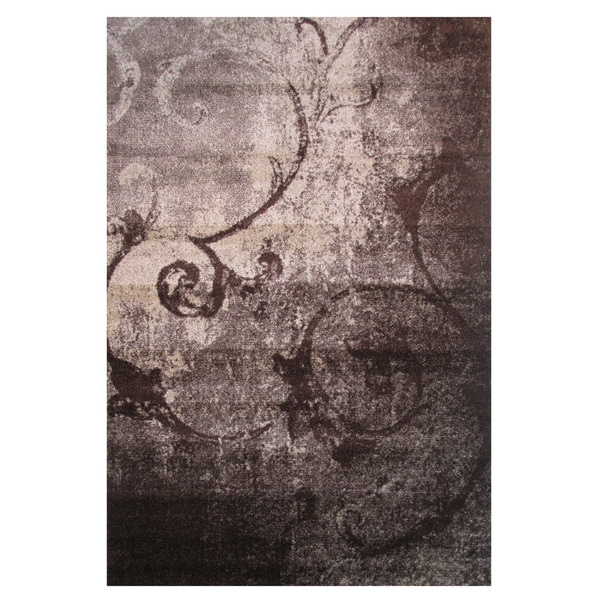 Energy Grey Polyolefin Area Rug (2' x 8')