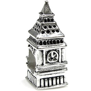 Queenberry .925 Sterling Silver 'London Big Ben Clock' European Charm