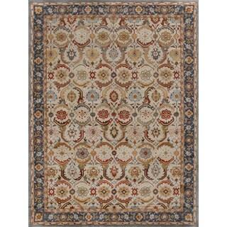 Eva Persian Blue Beige Wool Area Rug (8' x 10')