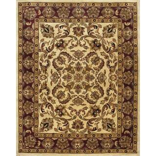 Beautiful Traditional Beige Wool Area Rug (8' x 10')