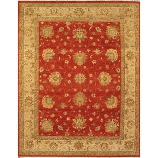 Antique Persian Rust Beige Wool Area Rug (9' x 12')