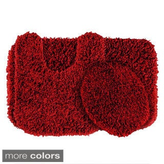 Somette Quincy Super Shaggy 3-Piece Washable Bath Rug Set