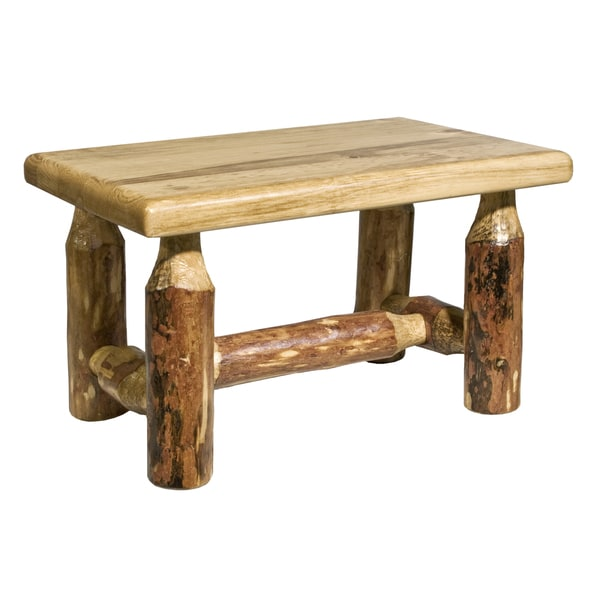 Montana Woodworks Glacier Country Collection Log Footstool