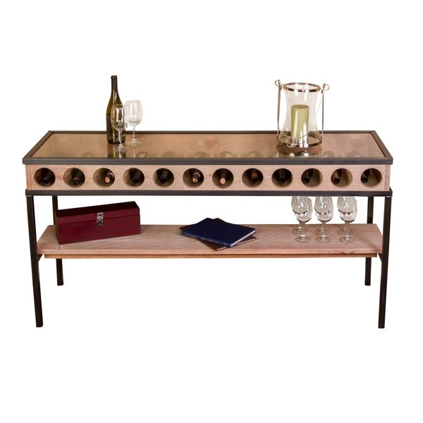 French Glass Top Console Table