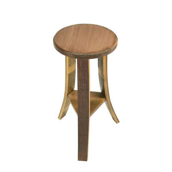 Wine Barrel Wood Stool