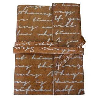 Sitara Handmade Running Hand Brown Leather Journal (India)