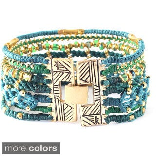 All One Hand-crafted Beaded Cuff Bracelet (Guatemala)