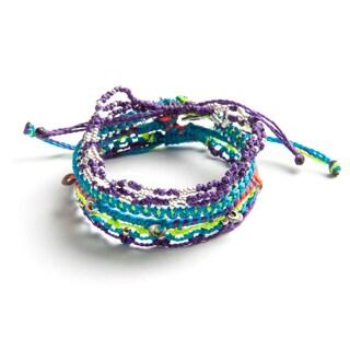 Set of 4 Jupiter, Saturn, Uranus, Neptune Hand-woven Bracelets (Guatemala)