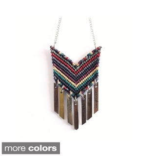 P.S. Inspire Hand-crafted Woven Pendant Necklace (Guatemala)