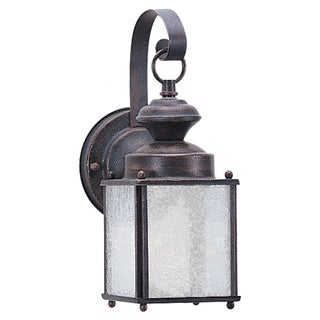 Seagull Lighting Bayside One Light Jamestowne Rust Patina Outdoor Wall Lantern