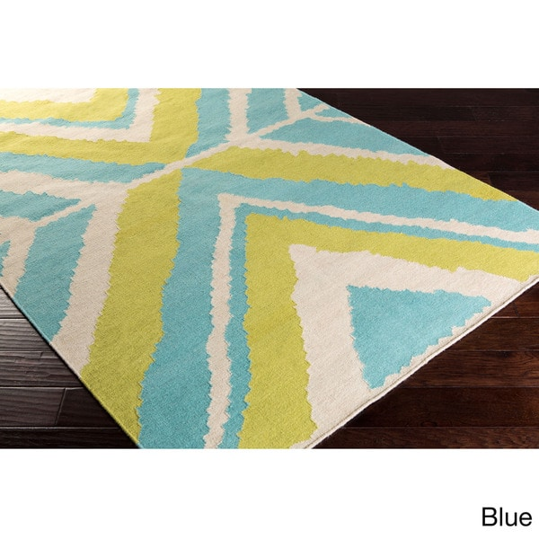Beth Lacefield Hand-woven Dagenham Reversible Wool Rug (2' x 3')