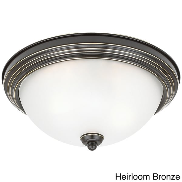 Seagull Lighting 2-Light Round Flush Ceiling Light