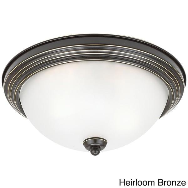 Seagull Lighting 2-Light Round Flush Ceiling Light