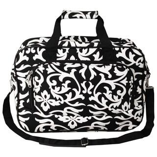 World Traveler Damask 15-inch Lightweight Carry-On Shoulder Tote Duffle Bag