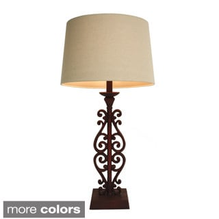 Scroll Gate Assorted Table Lamp