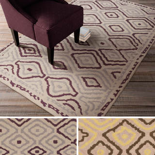 Beth Lacefield Hand-woven Viola Reversible Wool Rug (8' x 11')