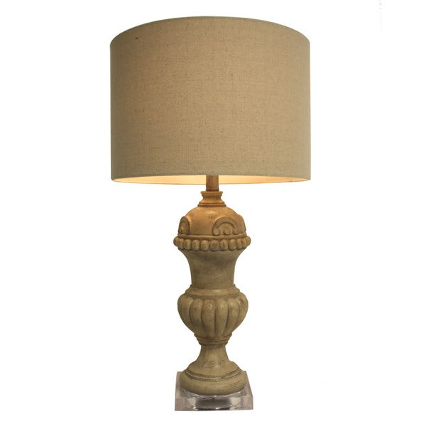 Light Tweed Table Lamp