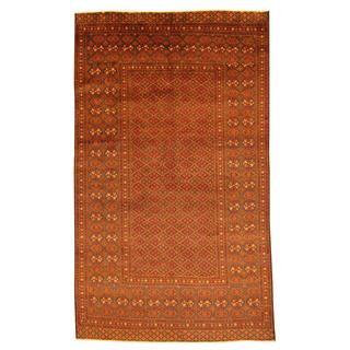 Herat Oriental Afghan Hand-knotted Tribal Balouchi Brown/ Navy Rug (5'7 x 9'5)