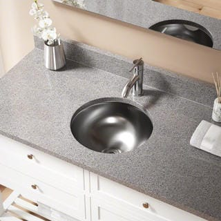 MR Direct 420 Stainless Steel Round Bathroom Sink