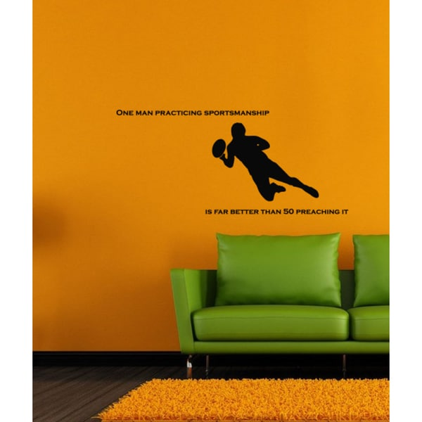 Wall Vinyl Art Home Interior Sticker Quote Phrase About American Football Sport