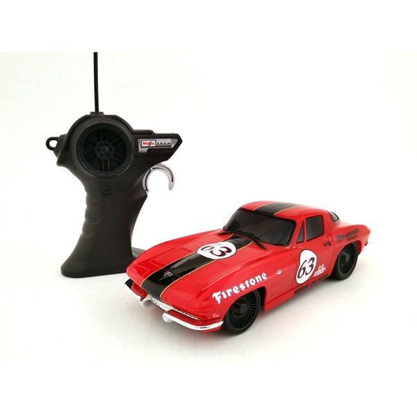 1:24 Remote Control 1963 Corvette Red Classic Race