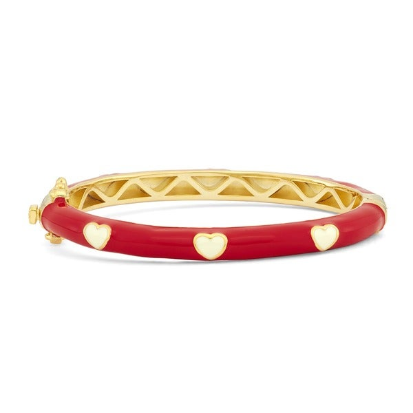 Junior Jewels Enamel Hearts Bangle