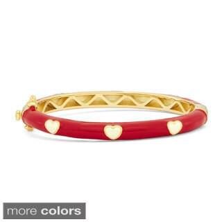 Junior Jewels Enamel Hearts Bangle