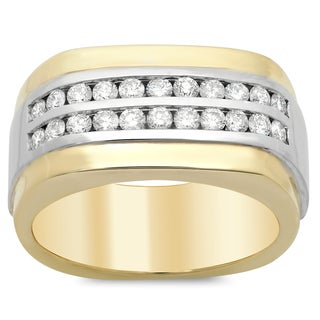 Artistry Collections 14k Two-tone Gold Men's 4/5ct TDW Diamond Ring (F-G, SI1-SI2)