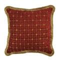 Sherry Kline Chenille Dots Luxury 20-inch Throw Pillow