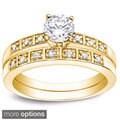 review detail Auriya 14k Gold 1ct TDW Round Diamond Bridal Ring Set (H-I, I1-I2)