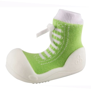 Attipas Infant Green Cotton and Rubber Sneaker Style Shoes