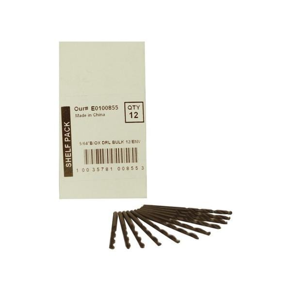 Disston Tool BLU-MOL 5/64-inch Black Oxide Drill Bits (Pack of 12)