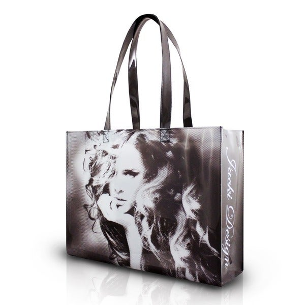 Jacki Design Grey Top Model Tote Bag