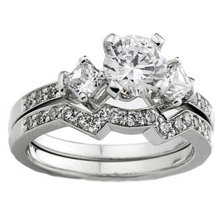 14k White Gold 1.05ct TDW Diamond Bridal Set 1 CT