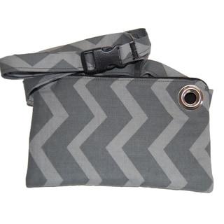 LillyMae Grey Chevron Waist Pack