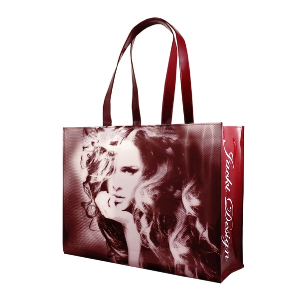 Jacki Design Burgundy Top Model Tote Bag