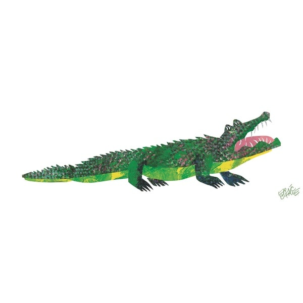 Eric Carle ABC Crocodile Canvas Print