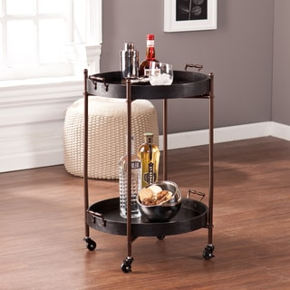 Arnaud 2-Tier Round Butler Table
