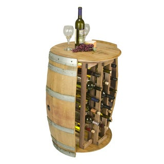 28 Bottle Round Wine Rack
