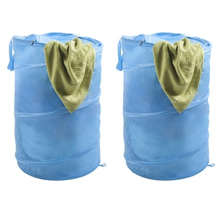 Lavish Home Pop-up Zipper Top Laundry Hamper (Set of 2)