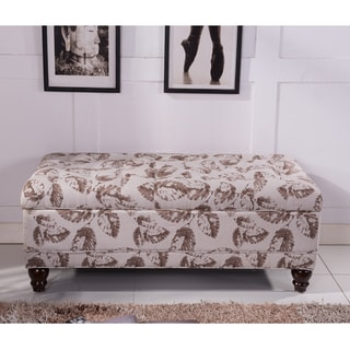 Classic Floral Tufted Storage Bench Ottoman