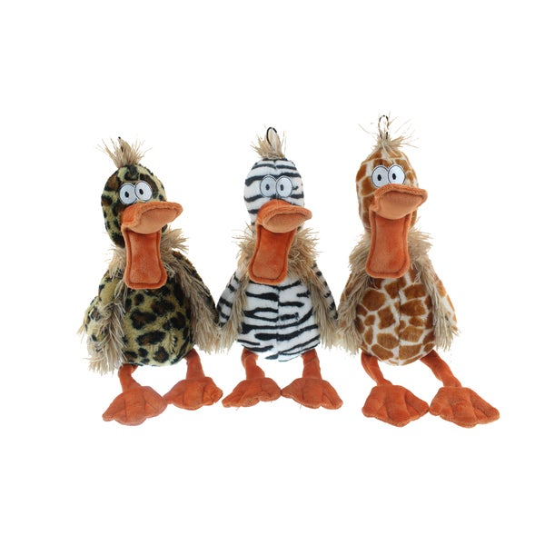 Multipet 15-inch Diva Ducks Plush Dog Toys (Set of 3)