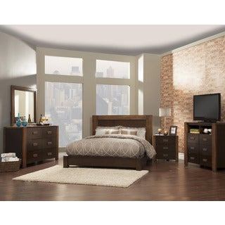 American Lifestyle Element Espresso 4-piece Bedroom Set (No Media Chest)