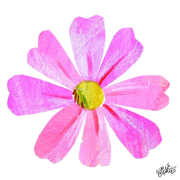 Eric Carle Pink Flower Canvas Print