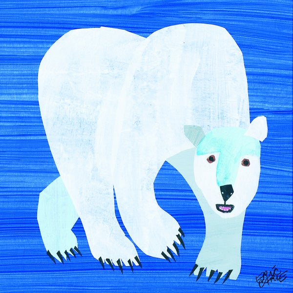 Eric Carle Polar Bear Character Art Front Cover Canvas Print